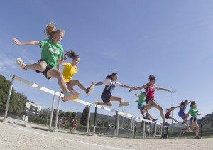 teen track hurdles